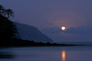 Sea Moon Full Moon Photo Posters - Blue Hawaii Poster by Allen Lefever
