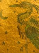 Blue Heron Print by Austen Brauker