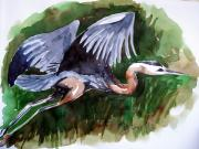 Shagufta Mehdi - Blue Heron over the...