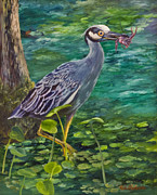 Crawfish Art - Blue Heron by Vinh Alexander