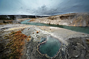 Yellowstone Park Scene Prints - Blue Hole Print by KH Graphic