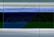 Blue Horizon Print by Naxart Studio
