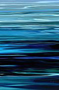 Panoramic Digital Art Originals - Blue Horrizon by Rabi Khan