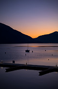 Sail Boat Prints - blue hour - Lake Maggiore Print by Joana Kruse