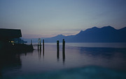 Waterscapes - Blue hour at dawn on Lago Maggiore by Heiko Koehrer-Wagner