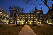 University Of Illinois Photos - Blue Hour Harper by CJ Schmit
