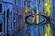 Stephanie Benjamin Posters - Blue Hour in Venice Poster by Stephanie Benjamin