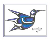 Speakthunder Berry Posters - Blue Humming Bird Poster by Speakthunder Berry