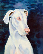 Great Dane Portrait Framed Prints - Blue Ice Great Dane Framed Print by Lyn Cook