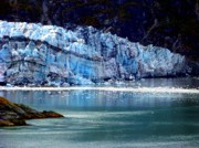 Icebergs Photos - Blue Ice by Karen Wiles