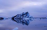 Blue Iceberg Print by Matthias Siewert