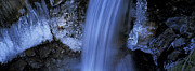 Blue Icy Waterfall Print by Intensivelight
