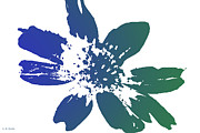 Silk Screen Prints - Blue in Bloom Print by Lauren Radke