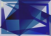 Blue Digital Art - Blue In Blue by Helmut Rottler