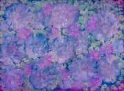 Entertaining Mixed Media Prints - Blue Iridescent Print by Don  Wright