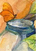 Nancy Watson - Blue Jar And Butterfly