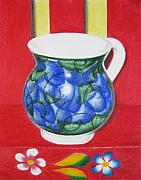 Pottery Pastels - Blue Jarrito by Lynet McDonald