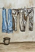 Jerusalem Paintings - Blue jeans. by Shlomo Zangilevitch