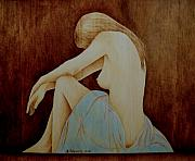 Woodburning Pyrography - Blue by Jo Schwartz