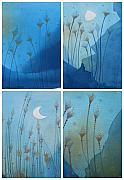 Landscape Drawings - Blue by Johanna Virtanen