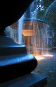 Fountain Photo Prints - Blue Print by Johnny Lam