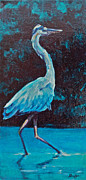 Great Blue Heron Paintings - Blue Knight  by Patricia A Griffin