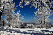 Snow. Mountain Photos - Blue Knob by Lois Bryan