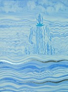 Meditation Paintings - Blue Lace Agate Throat Chakra by Jennifer Baird