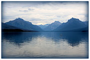Lake Mcdonald Posters - Blue Lake McDonald Poster by Carol Groenen