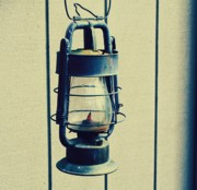 Lanterns Photos - Blue Lantern out back by Cathie Tyler