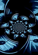 Kaleidoscopic Posters - Blue Light Poster by Chris Berry