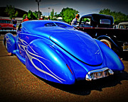 Blue Car Framed Prints - Blue Love Framed Print by Perry Webster