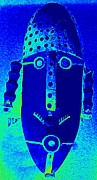 Native Art Digital Art - Blue Man Ungrouped by Randall Weidner