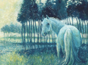 Equine Paintings - Blue Mare by Gill Bustamante