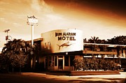 Marlin Digital Art Framed Prints - Blue Marlin Motel - Key West Florida Framed Print by Bill Cannon