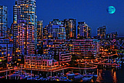 Vancouver Photos - Blue Moon 2 by Lawrence Christopher
