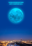 Roberto Digital Art Metal Prints - Blue Moon Metal Print by Dandy Peacewell