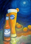 Beer Framed Prints - Blue Moon I Framed Print by Craig Wade