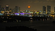 Blue Moon Over Miami Print by Ronald  Bell