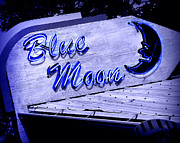 Old Sign Prints - Blue Moon Print by Perry Webster