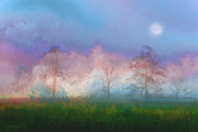 Landscapes Prints - Blue Moon Print by Ron Jones