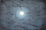 Moonshine Painting Framed Prints - Blue Moon Framed Print by Usha Shantharam