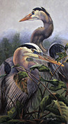 Heron Pastels - Blue Morning by Deb LaFogg-Docherty