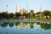 Religious Structure Prints - Blue Mosque at Dawn Print by Artur Bogacki