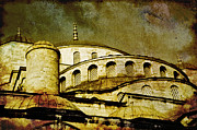 Turkey Mixed Media Prints - Blue Mosque Print by Dariusz Gudowicz