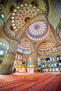 Camii Prints - Blue Mosque Interior Print by Artur Bogacki
