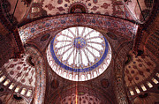 Turkish Photos - Blue Mosque Interior by John Rizzuto