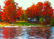 Small Town Life Art - Blue Mountain Lake 10 by Steve Ohlsen