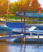 Boating Digital Art - Blue Mountain Lake 5 by Steve Ohlsen
