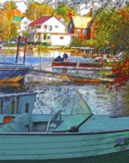 Boating Digital Art - Blue Mountain Lake 6 by Steve Ohlsen